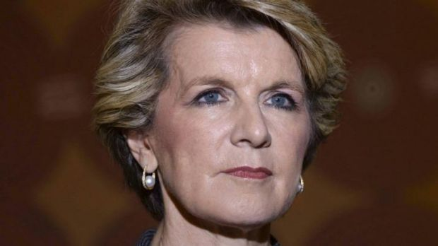 """""""We stand by our view"""": Julie Bishop in Beijing."""