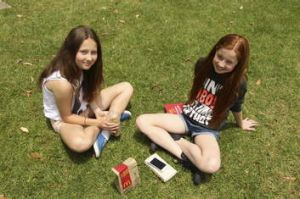 """It's not unhealthy. If you're fat you shouldn't [eat it]"": Ellise Hayes, right, with friend Gemma Donnelley."