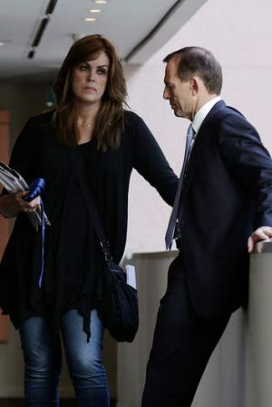 Staff have been told to direct any queries about new social media restrictions to Tony Abbott's chief of staff Peta Credlin.