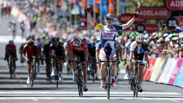 Andre Greipel takes out stage six in January.