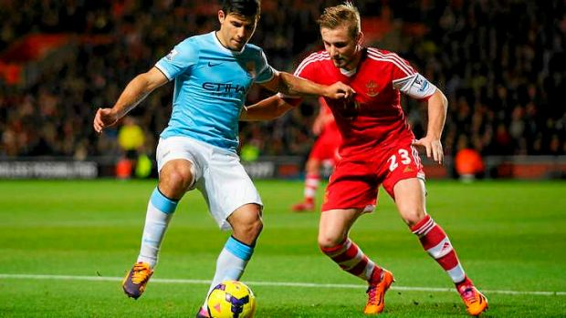 Sergio Aguero scored the only goal for Manchester City against Southampton.