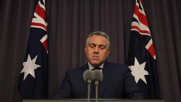 Treasurer Joe Hockey addresses the media during a press conference at Parliament House.