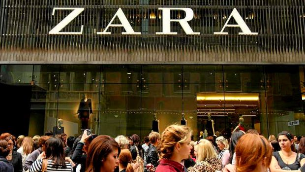 The  Zara store in Sydney.