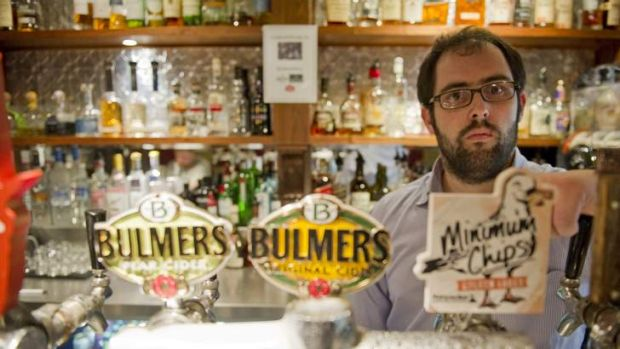 Bar manager of the Durham in Kingston Adrian Moran says business is bad.