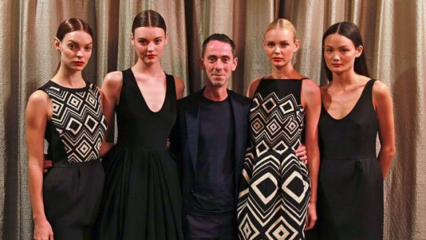 """I think Australian fashion has really changed"": Martin Grant, centre, poses with models donning his European-inspired ..."