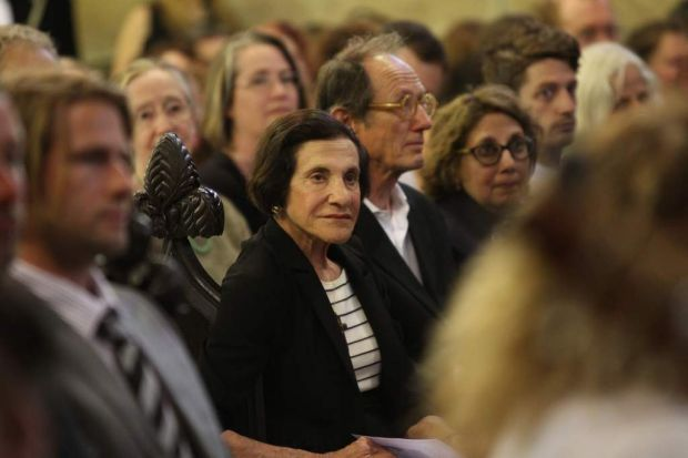 Her excellency governor Marie Bashir attends the Australian Artist Martin Sharp's Funeral at Christ Church Saint ...
