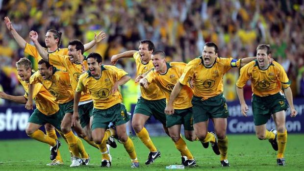 Moment in time: the Socceroos jubilation at qualifying for the 2006 World Cup is a genuine watershed moment.