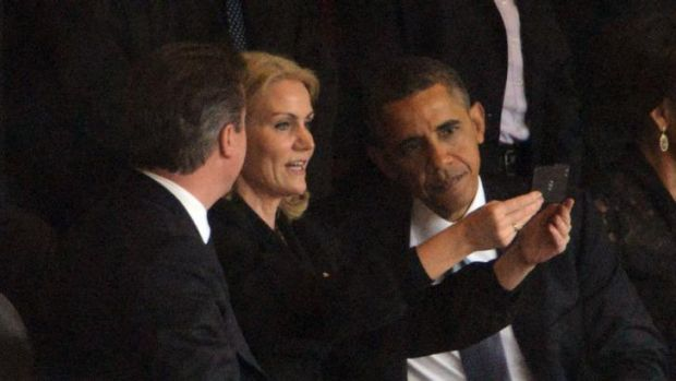 Social media was abuzz after Barack Obama posed for a selfie.