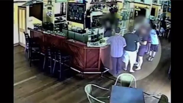 CCTV footage showing the alleged bikies at the Yandina Hotel in November. Photo: Queensland Police Service.