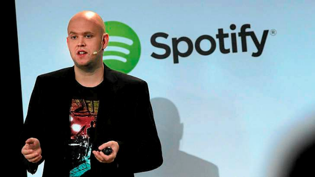 Daniel Ek announces that Spotify will expand to 20 new markets around the world at a New York event.