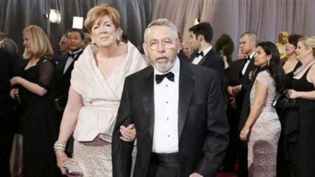 "Former CIA agents Jonna and Tony Mendez, whom the film ""Argo"" is based on, arrives at the 85th Academy Awards in ..."