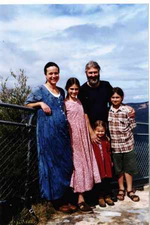 Higher calling … (from left) Abraham, Lebana, Mark, Rose and Undila Ilich at Katoomba in 2001.