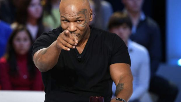 Former heavyweight boxing champion Mike Tyson.