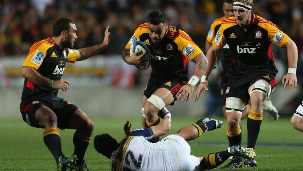 Liam Messam on the charge.