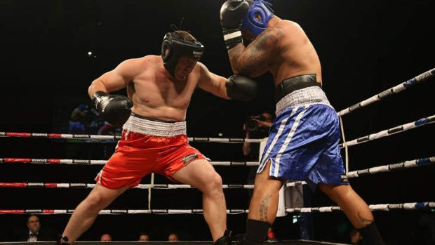 Paul Gallen in action against Hika Elliot last year.