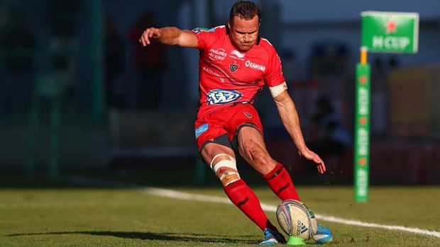 Former Wallaby Matt Giteau kicked 12 points for Toulon.