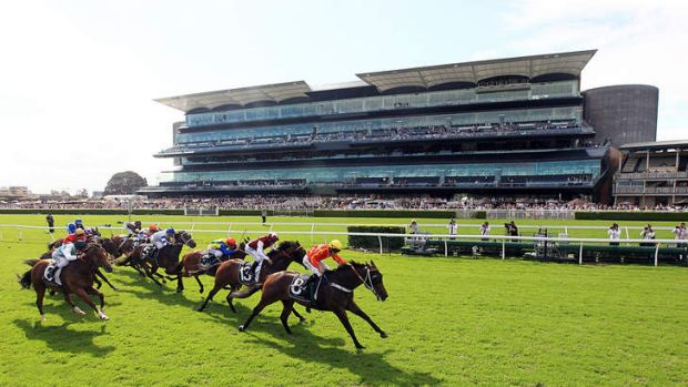 Ninth Legion ridden by Peter Robl wins The Villiers on the Kensington track at Randwick on Saturday.