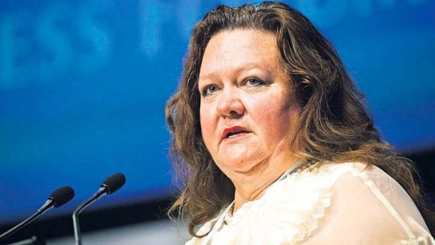 Falling fortune: Gina Rinehart slipped from 41 to 61 on Bloomberg's global wealth rankings.