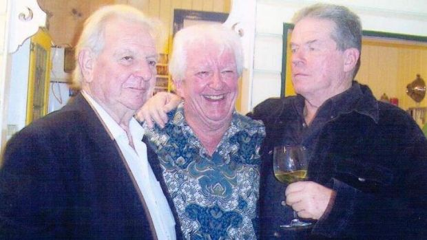 Class warrior: Tony Reeves, centre, celebrates his 70th birthday with Jack Mundey, left, and Ian Alcorn.