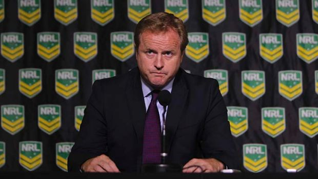 """A very thorough, deep process"": Chief executive Dave Smith at the NRL press conference."