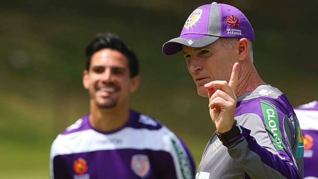Family: Perth Glory coach Alistair Edwards and his son Ryan.