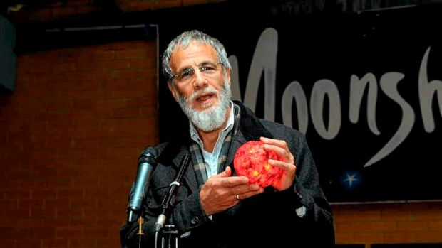 Inductee: Yusuf Islam, or Cat Stevens, at the 2012 launch of  the musical <i>Moonshadow</i>,  based on his songs.