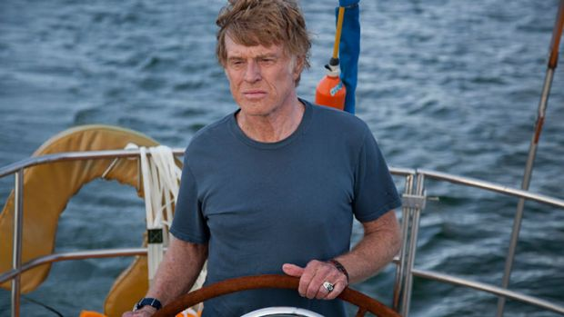 Captain of a crew of one: Robert Redford in <i>All Is Lost</i>.
