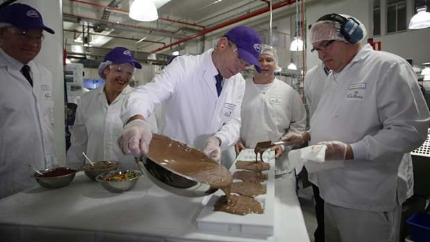 """""""During the election campaign, Abbott flew to Tasmania and blithely handed a gift of $16 million to the Cadbury ..."""