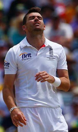 Jimmy Anderson has taken seven wickets at 58.2 and also suffered the ignominy of being hit for 28 in a single over.