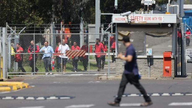 Workers at Toyota's plant in Altona, which on Wednesday began a 21-day shutdown over Christmas. The car maker has been ...