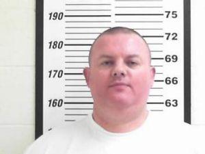 A police mug shot of Donaldson after his arrest.