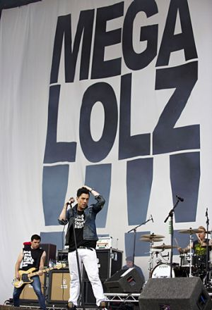 Ian Watkins onstage with band Lostprophets at the Reading Festival in the UK in 2010.