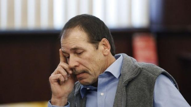 Theodore Wafer appears at his preliminary examination before District Court Judge David Turfe in Dearborn Heights, Michigan.