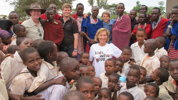 With WA Governor Michael McCusker and wife Tonya in a Masai village.