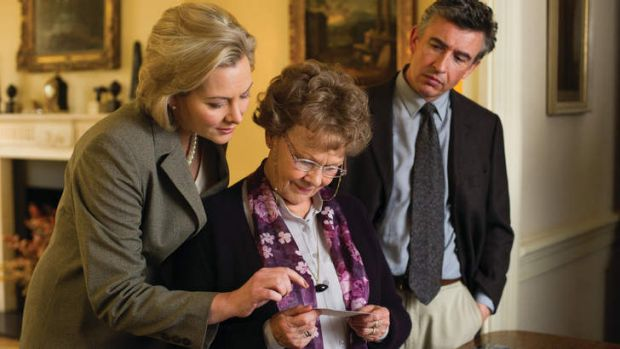 Anti-Catholic? .... Philomena Lee (Judi Dench, centre) and Martin Sixsmith (Steve Coogan, right) with a co-worker of ...
