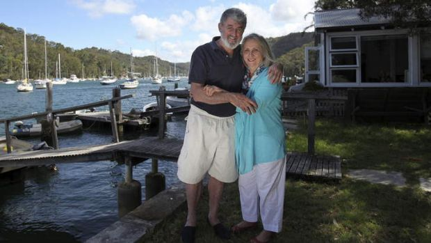 Once bitten: Joy and Nick Cowdery at their holiday house on the northern beaches.