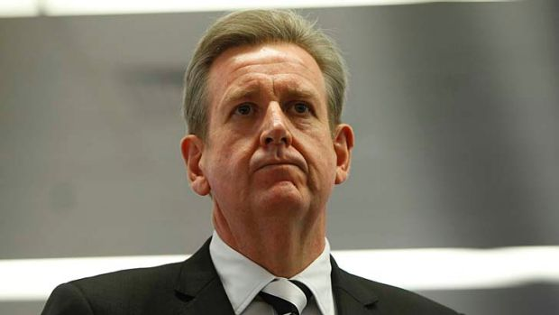 Facing community opposition: Barry O'Farrell.