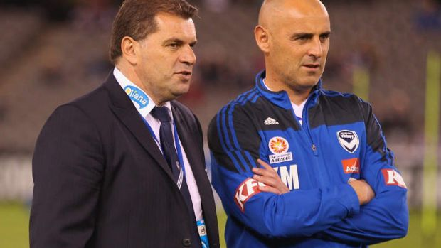 Kevin Muscat with Ange Postecoglou.