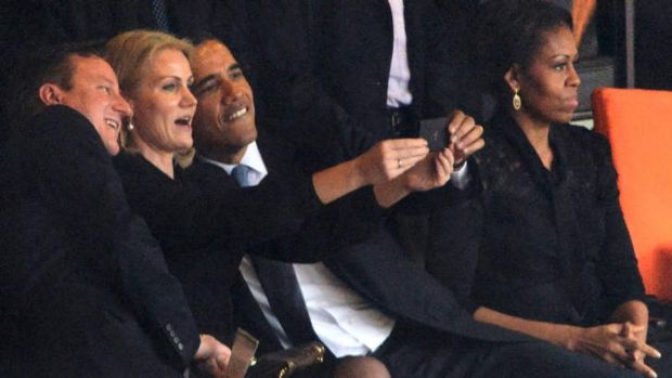 Barack Obama, David Cameron and Helle Thorning-Schmidt.