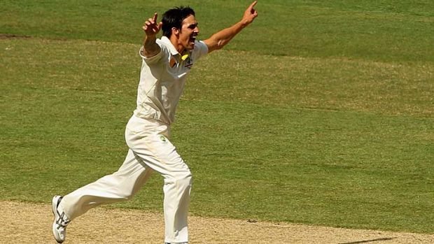 Mitchell Johnson gets another wicket.