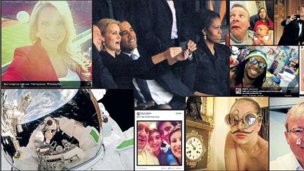 All their own work ... a selection of 2013's best selfies.