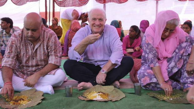 Disarming charm: Rick Stein's India.