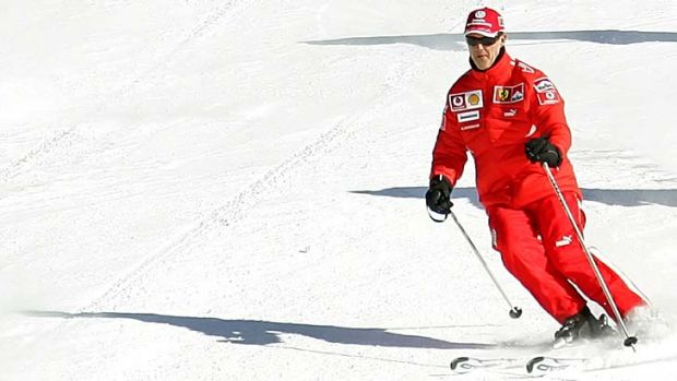 Leisurely ski: Ferrari Formula One legend Michael Schumacher was going about 20 km/h when he crashed.