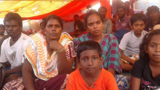 Tamil refugees stranded in North Pagai, Indonesia.