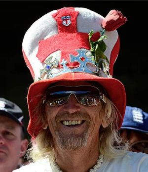 Vic Flowers of the Barmy Army at the Boxing Day Test at the MCG.