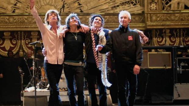 Back: The Rolling Stones.