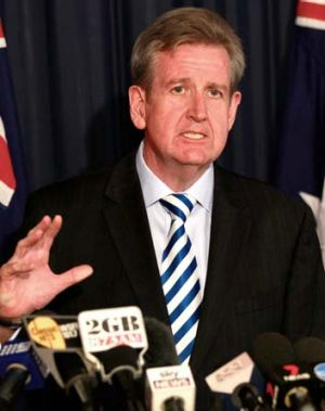 """""""Horrified and appalled"""" by the attack"""": Barry O'Farrell."""