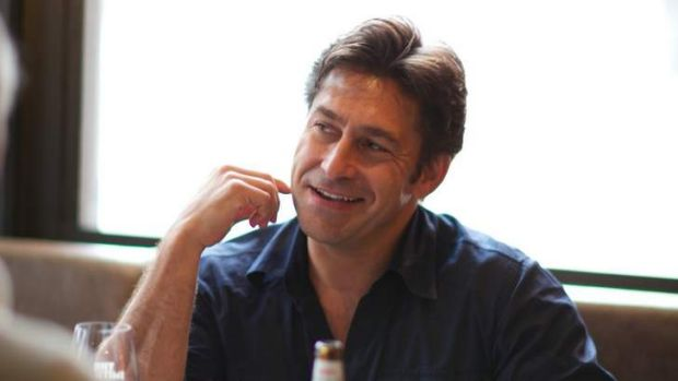 Relaxed: Despite his frenetic workload, Jamie Durie knows how to lunch.