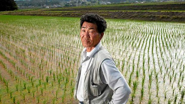 Rice farmer Katsuyuki Kuchiki in Kunimi, Japan. The price of rice has dipped, but growing demand could see a return to ...