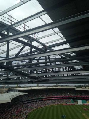 'Sense of an unfinished building': the view from Jess Simpson's seat at the SCG.